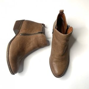 Lucky Brand Light Brown Leather Ankle Boots